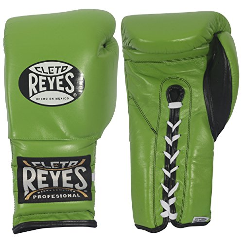 Cleto Reyes Lace Boxing Training Gloves, 14 oz., Green