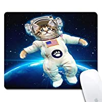Cat Astronaut Extended Ergonomic Gaming Mouse Pad、Rectangle 240x200x3mm Mouse Pad Custom Design Rubber Rectangle 240x200x3mm Mouse Pad-Cat Astronaut