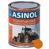 ASINOL Kommunalorange 1.000 ml Kunstharzlack Farbe Lack 1l Liter Dose