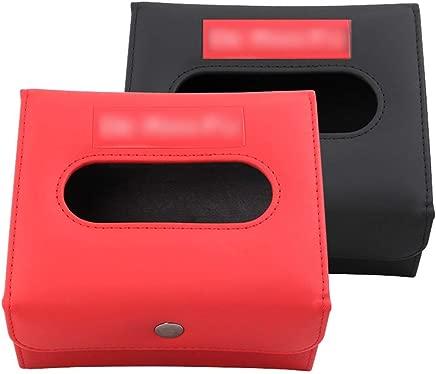 WOYBAOF Black Red Fold Car Console Armrest Paper Box  Sun Visor Napkin Holder  Car Tissue Holder  Tissue Case Holder Cars Tissues Boxes Bulk Tissues Pocket Packs Color Red Size 13 5 8 8 16cm