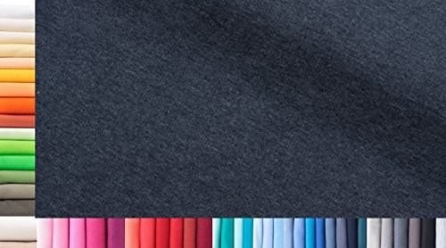 Bündchenstoff XXL als Meterware doppelt: 75cm breit einfach: 150cm breit Farbe: 52 Jeans 0,5m lang 96% Baumwolle, 4% Elasthan über 50 Farben zur Auswahl Jersey 1buy3
