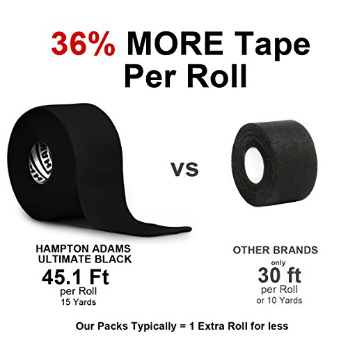 (3 Pack) Black Athletic Tape - 45ft Per Roll - No Sticky Residue  Arkansas