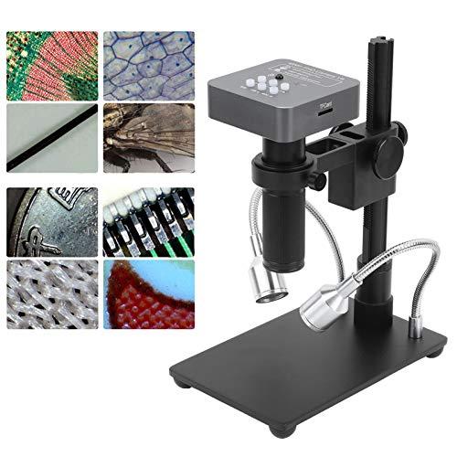 Elektronisches Mikroskop, Mehrzweck USB 1080P HD 48MP HDMI C-Mount Objektiv Digitale Mikroskopkamera für Telefon PCB-Schweißen für Schmuck für Mikroelektronik(Transl)