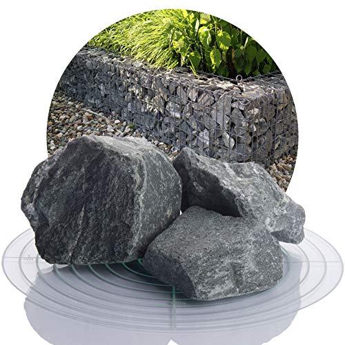 graue Diabas Gabionensteine 25 kg von Schicker Mineral, Bruchsteine für Gabionen (graue Diabas Gabionensteine, 60-120 mm)