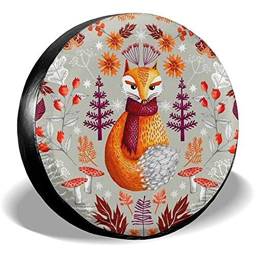 N/A Copriruota Ruota di scorta Christmas Fox Potable Poliestere Universale Impermeabile Antipolvere Crema Solare Universale