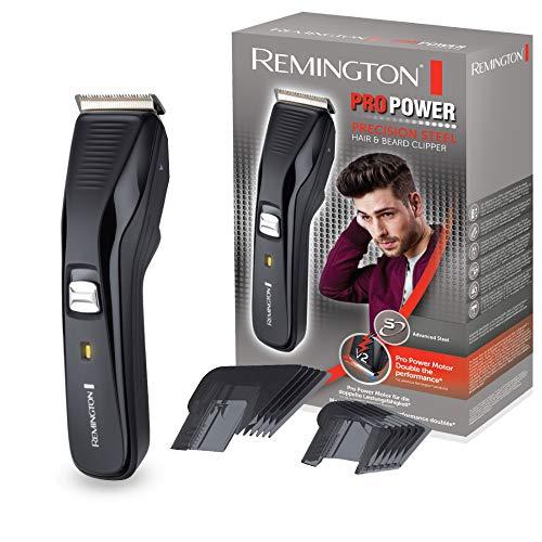 Remington Haarschneidemaschine HC5200 (Edelstahlklingen, ProPower-Motor 300 mm/s Schnittgeschwindigkeit, 2 Aufsteckkämme, Netz-/Akkubetrieb, Lithium) Haarschneider, Haartrimmer Herren Pro Power
