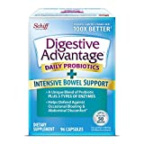 Digestive Advantage Intensive Bowel Support Capsules (96 Count In A Box), Helps Defend Against Occasional Gas Bloating Abdominal Discomfort and Diarrhea, Supports Digestive and Immune Health, CFUs
