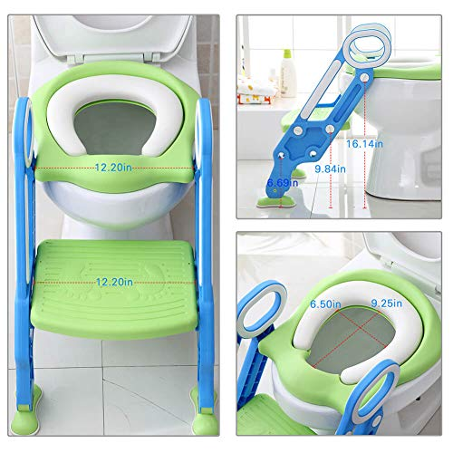 Potty Training Seat for Boys and Girls with Sturdy Non-Slip Step Stool Ladder Portable Toddler Potty Seat Perfect for Potty Training