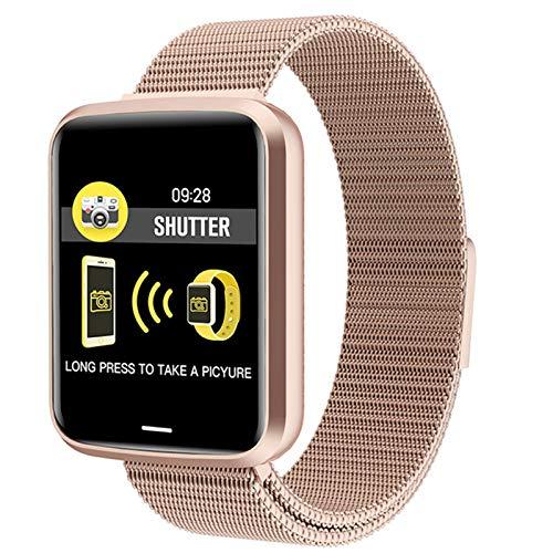New Hombre Sports Smart Watch IP68 Reloj Moda Pulsera Inteligente con Ritmo Cardíaco Monitor Monitor De La Presión Arterial Cinturón De Mujer para Android iOS,B