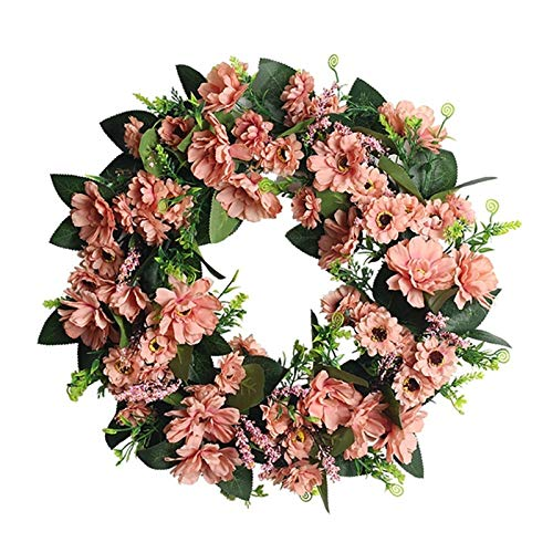 JXHYKJ Artificial Small Flower Wreath for Front Door Window Wall Wedding Party Venue Layout Props Valentine's Day Home Decor