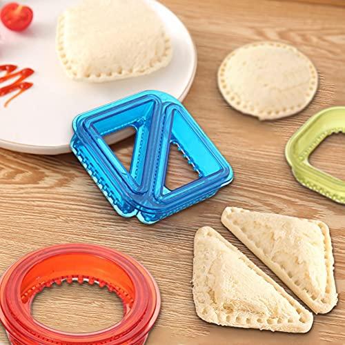 Cortador de sándwich y sellador, molde para pan de desayuno, ideal para lonchera y caja de bento, para niños y niñas, almuerzo, cortadores de sándwich para niños