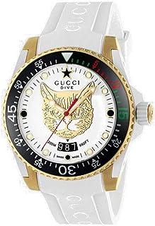Gucci - Reloj Analógico para Hombre de Cuarzo con Correa en Caucho YA136322