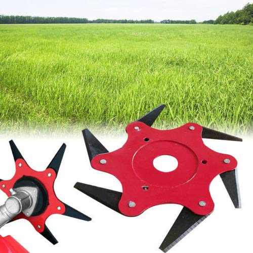 Grass Trimmer Vervangen Van De Kop, 6 Tanden Mower Blade Universal Fit 99% Grastrimmers En Bosmaaiers Mowing Head Tool in Garden Backyard, 2 Stuks