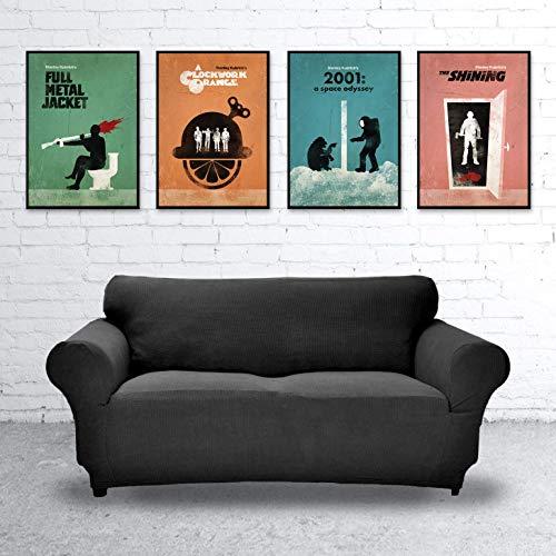Stanley Kubrick Collection Minimalist Movie Poster Set, Artwork Print, Full Metal Jacket, The Shining, 2001 A Space Odyssey, A Clockwork Orange, Unframed Print, Office Decor, Home Decor
