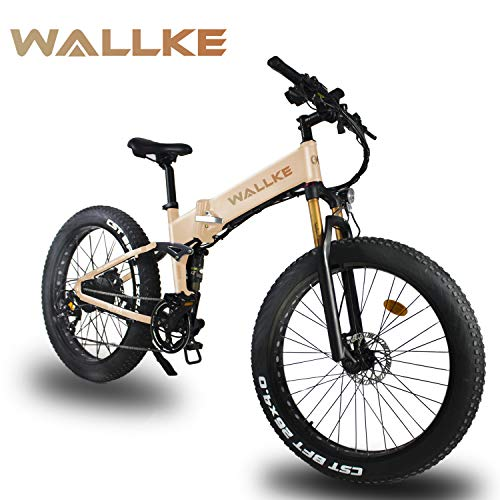 """W WALLKE X3 Pro 26""""Fat Tire Electric Bicycle 48V Adult Auxiliary Bicycle 750W Mountain Snow Electric Bicycle 14AH Battery No Welding Frame"""