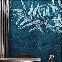 Iusasdz カスタム壁紙3D壁画モダンミニマリスト熱帯植物葉の幾何学テレビ背景壁壁画3D壁紙B-350X250Cm