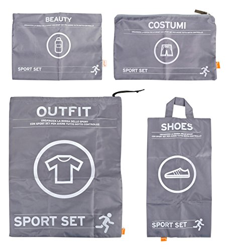 Pusher Sport Set Sport Set, Nylon, Grigio,