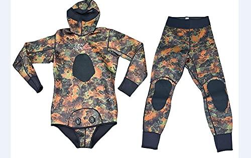 Hwjmy Traje de buceo dividido dos juegos de ropa de pescado caliente caza ropa de pescado (color: 1, tamaño: L)