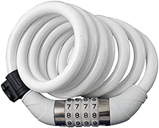 featured product Sunlite Resettable Combo Cable Lock, 12mm x 6 ft., White
