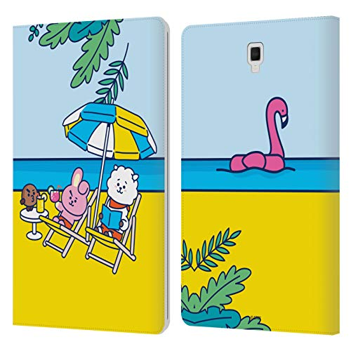 Official BT21 Line Friends Shooky, Cooky & RJ Bon Voyage Summer Vacation Leather Book Wallet Case Cover Compatible For Galaxy Tab S4 10.5 (2018)