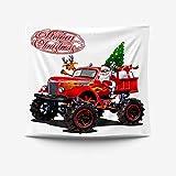 Tapiz Pared de Creativo, Morbuy Estampado de Santa Claus Decoración Tapices Tapicería Cubierta del Sofa Manteles Cortina Picnic Blanket Playa Accesorio Casero (Buggy Rojo,200x150cm)
