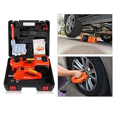 Yosoo Car Electric Jack, 5Ton 12V DC Automotive Car Electric Jack Lifting SUV Van Garage Emergency Equipment