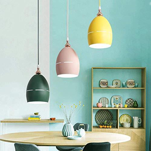 Duurzame Macaron Kleurrijk Groen Roze Geel IJzeren Craft Hanger Kroonluchter Moderne Eenvoudige LED * 3 Plafondlamp Woondecoratie Woonkamer Eetkamer 50 * 100cm Kroonluchter (Kleur : Wit licht), Kleur:W