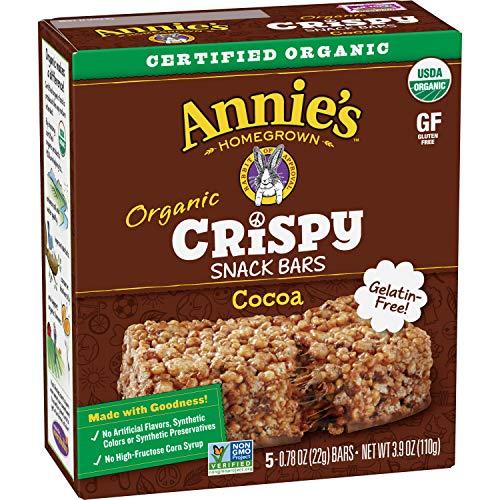 Annie's Homegrown Organic Cocoa Crispy Snack Bars, 3.9 oz