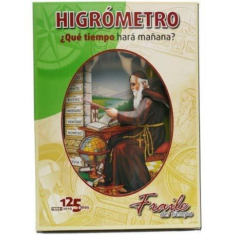 H851C - Fraile del tiempo - Fraile del tiempo Castellano - Higrómetro de cabello fabricado en cartón.