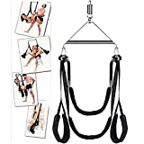 Indoor Swing Set RNPFOR Sẹ&x Strḁpps for Women for Adult Sẹ&x Swivẹl Swíng Ceiling Heavy Frame 360 Degree Adjustable Six Swíng Body Stand Seat Assistance bŠdm Adult Tools Toys