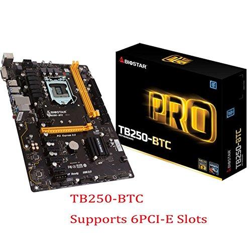 Biostar tb250-btc Core i7 / i5 / I3 lga1151 DDR4 de Apoyo de 6 tarjeta de graficos para la mineria Maquina ATX placas base (6)