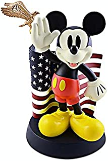 disney parks mickey with flag salutes alavezos medium statue new with box