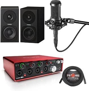Focusrite Scarlett 18i8 G2, Pair of Fostex PM03B Monitors, AT2035 Mic, Cables