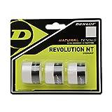 Dunlop Overgrip Revolution NT 3er - Mango de Raqueta de Tenis, Color Blanco, Talla...