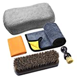 Leather Cleaning and Care Tool Kit, Used with Leather Seat Cleaner and Conditioner for Vinyl and Leather Auto Interior, Seats, Furniture, Apparel and Bags, Car Seat Cleaning Brushes, 5PCS Set