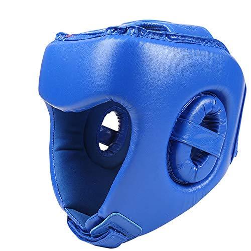 YADSHENG Boxing Helmet Boxing Headguard Kids MMA Junior Headgear for Fighting Kickboxing Martial Arts Youth Thai Taekwondo Headgear (Color : Blue, Size : X-Large)