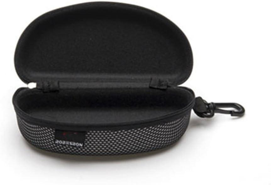 Aliturtle Sunglasses Organizer - Portable Zipper Eyeglass Storage Box Protector - Eye Glasses Clam Shell Hard Case - Black