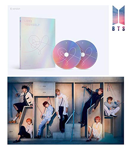 BTS Love Yourself Answer (E Version) Bangtan Boys Album 2CDs+Poster+Photobook+Mini Book+Photocard+Sticker Pack+Gift (Extra 6 Photocards Set)