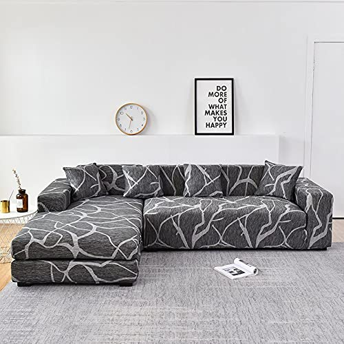 WXQY L-Form muss 2 Stück Sofabezug, elastische Sofa Handtuch Sesselbezug, für Ecksofa Möbelschutzbezug A7 4-Sitzer bestellen
