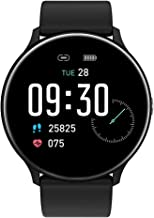 Smart Watch for Android and iOS Phone 2020 Latest Version IP67 Waterproof, Fitness Tracker Watch with Pedometer Heart Rate Monitor Sleep Tracker Touchscreen, Smartwatch for Men and Women(Black)