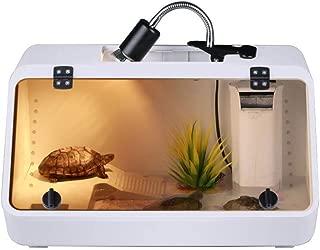 XBTECH Tortuga Cristal Terrario Tartarium Tortuga Vivarium Caja Acuario Tanque Rampa de Descanso Inicio Tanque de cría Espacioso Jaula Reptil