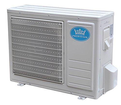 Prem-I-Air 18000 BTU Per Hour Easy Fit Wall Mounted Air Conditioner with Heat Pump Exterior Unit Condenser.