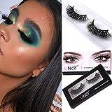 UNICE 3D Mink False Eyelashes Natural Look, Handmade High Volume Dramatic Long Lashes Soft Reusable for Women 1 Pair