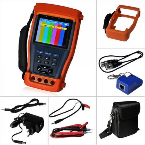 Evertech Cctv Multi-function Tester PRO M - Built-in Digital Multimeter - 3.5' LCD Monitor Cctv...