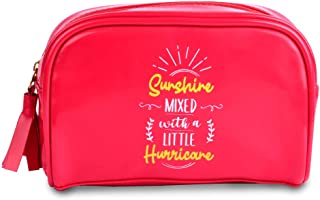 Doodle Feisty Gal Premium Rexin Pouch (Pink, 5.5 X 7.75 Inches) Cosmetic Pouch, Stationery Pouch, Gift for Girls