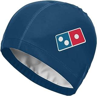 Dominoâ€s Pizza Logo High Elasticity Swimming Cap for Adult Men Women