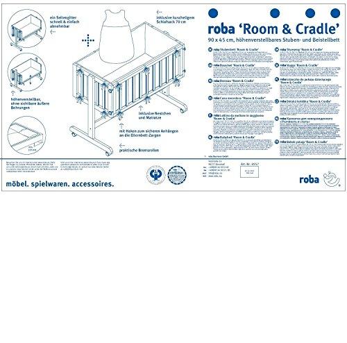roba Berceau cododo 'Room & Cradle', bois laqué en blanc, utilisable comme cododo...