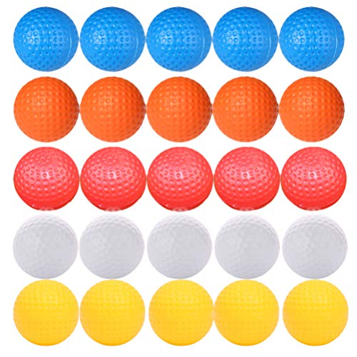 BESPORTBLE 30 Stücke Golfbälle Lakebälle Teichbälle Golf Trainingsbälle Übungsbälle Farbige Spielbälle für Indoor Outdoor Kinder Erwachsene Golf Training Übung Bälle