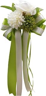 Homyl Autoschmuck Autoschleifen Blume Hochzeit Deko - Grün, 30 x 15 x 8 cm
