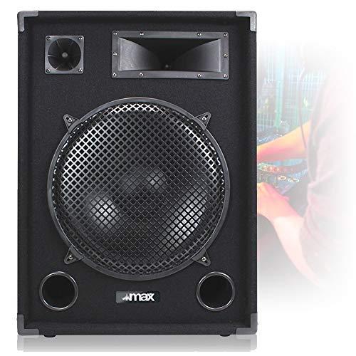 Max SP15 DJ Speaker 15' 1000W Full Range Woofer Bedroom DJ Mobile Disco...